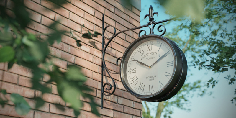 Photo Realistic Garden Clock