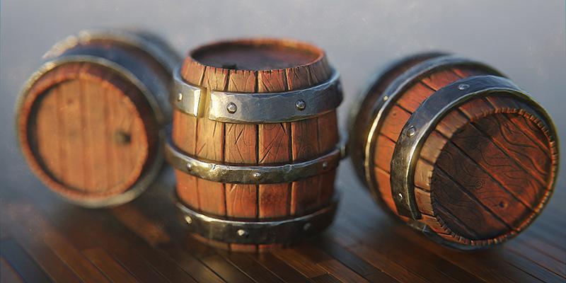 Stylized Barrel - Blender Market