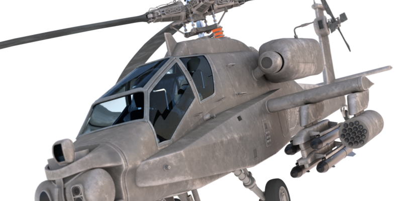 AH-64 Apache longbow 3D model