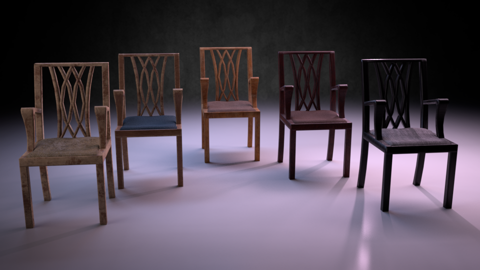 Chair M01 - The Marquis Collection VR / AR / low-poly 3D model / PBR
