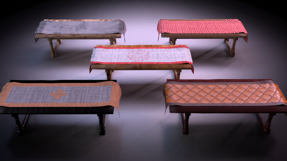Table M01 - The Marquis Collection VR / AR / low-poly 3D model / PBR