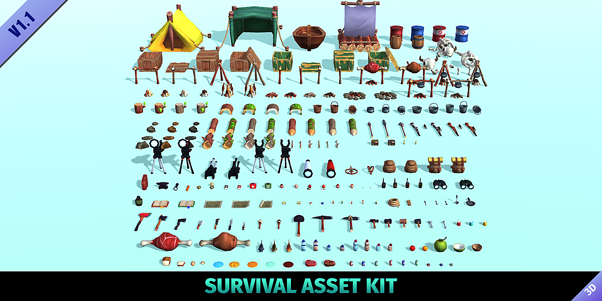 Survival Asset Kit - Blender Market