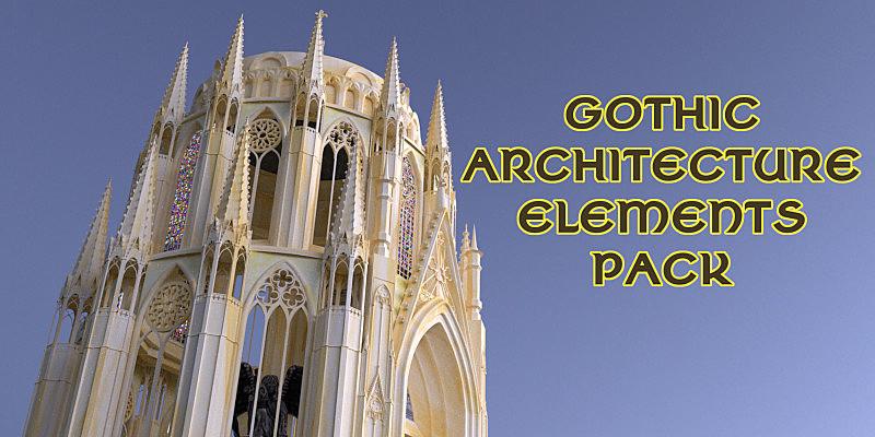 Gothic Architecture Elements Pack Blender Marketgothic