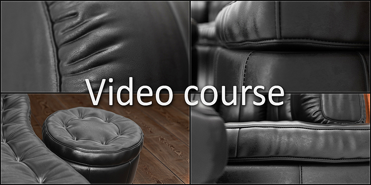 Modeling and visualization a couch in Blender 3d
