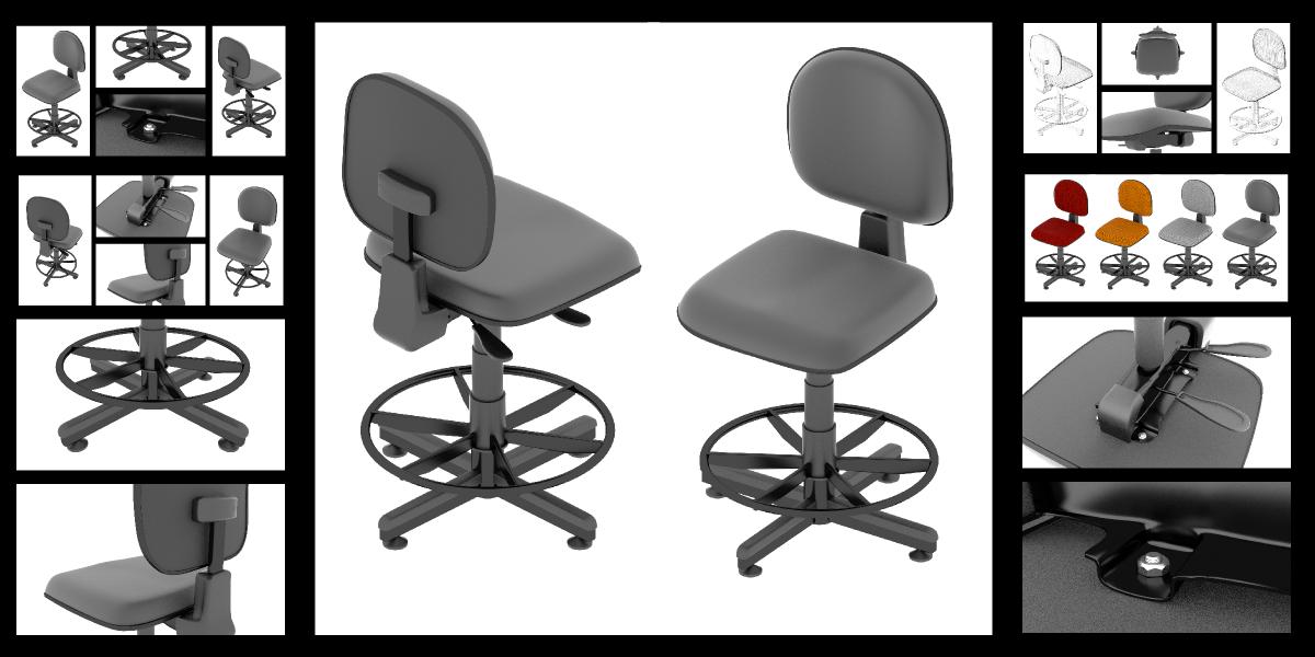 Ergonomic Drafting Chair   Blender MarketErgonomic Drafting Chair   Blender  Market