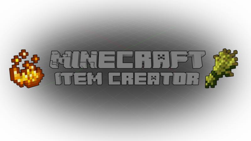 Minecraft Item Creator - Blender Market