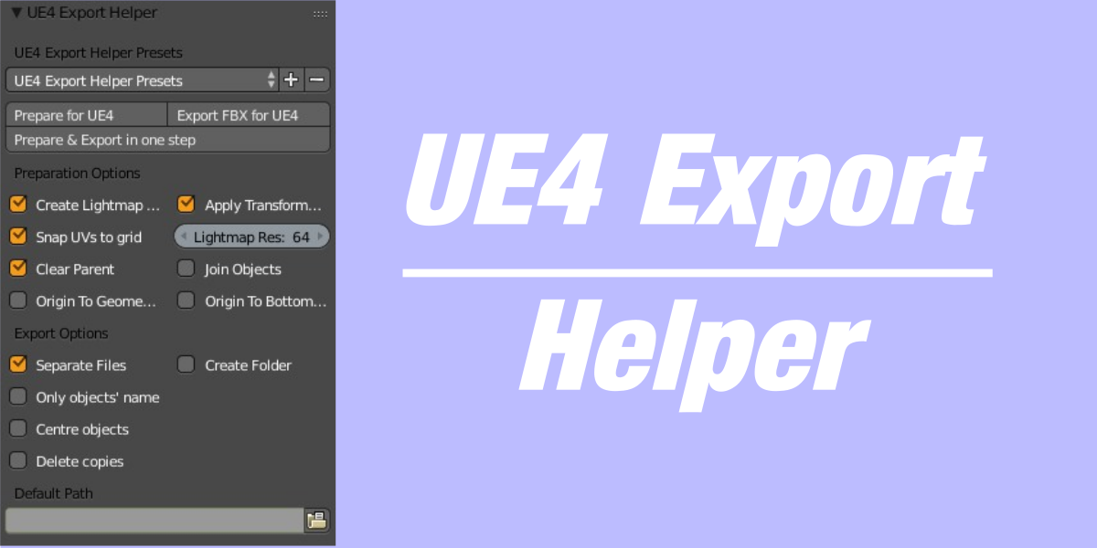 UE4 Export Helper