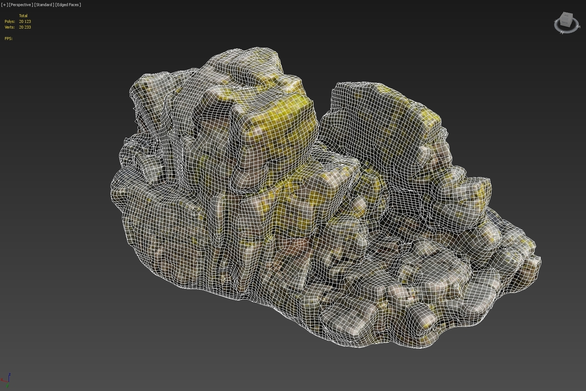 3d scanned rock cliff i