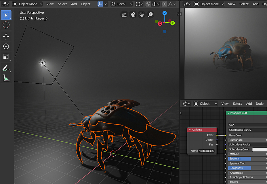 Import multiple  fbx files with Vertex Color