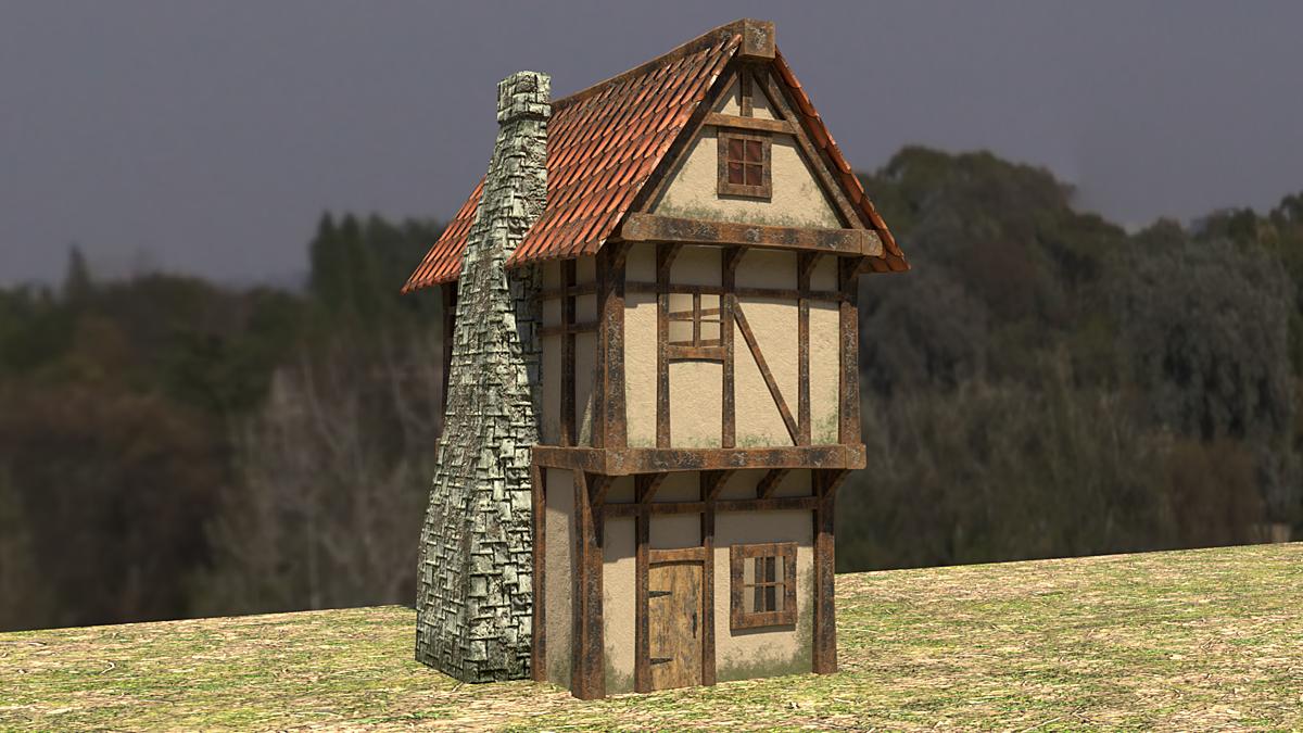 Medieval Houses Asset Pack Blender Market
