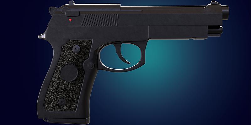 Beretta M9 Pistol 3d model - Blender Market